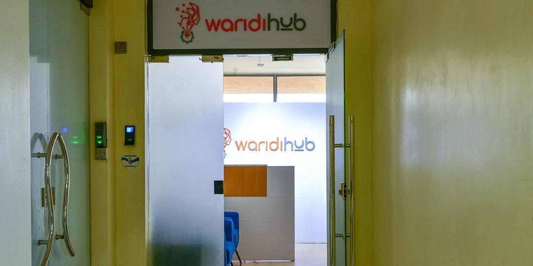 Image of the Waridi Hub centre door for Zuhura Africa